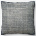 "Magnolia Home by Joanna Gaines for Loloi Accent Pillows 22"" X 22"" Cover w/Down Pillow - Item Number: DSETP0435BBBBPIL3"