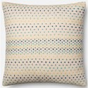 """Magnolia Home by Joanna Gaines for Loloi Accent Pillows 22"""" X 22"""" Cover w/Down Pillow - Item Number: DSETP1000BBMLPIL3"""