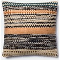 """Magnolia Home by Joanna Gaines for Loloi Accent Pillows 22"""" X 22"""" Cover w/Down Pillow - Item Number: DSETP1009ORBBPIL3"""