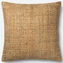 "Magnolia Home by Joanna Gaines for Loloi Accent Pillows 22"" X 22"" Cover w/Down Pillow - Item Number: DSETP1013YE00PIL3"
