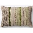 """Magnolia Home by Joanna Gaines for Loloi Accent Pillows 13"""" X 21"""" Cover w/Down Pillow - Item Number: DSETP1019SGGYPIL5"""