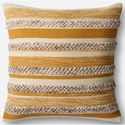 "Magnolia Home by Joanna Gaines for Loloi Accent Pillows 22"" X 22"" Cover w/Down Pillow - Item Number: DSETP1022GOIVPIL3"