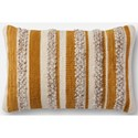 """Magnolia Home by Joanna Gaines for Loloi Accent Pillows 13"""" X 21"""" Cover w/Down Pillow - Item Number: DSETP1022GOIVPIL5"""