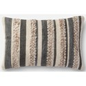 """Magnolia Home by Joanna Gaines for Loloi Accent Pillows 13"""" X 21"""" Cover w/Down Pillow - Item Number: DSETP1022GYIVPIL5"""