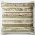 "Magnolia Home by Joanna Gaines for Loloi Accent Pillows 22"" X 22"" Cover w/Down Pillow - Item Number: DSETP1022SGIVPIL3"