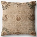 "Magnolia Home by Joanna Gaines for Loloi Accent Pillows 22"" X 22"" Cover w/Down Pillow - Item Number: DSETP1029BESIPIL3"