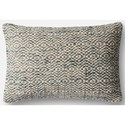 "Magnolia Home by Joanna Gaines for Loloi Accent Pillows 13"" X 21"" Cover w/Down Pillow - Item Number: DSETP1031GY00PIL5"