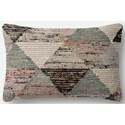 "Magnolia Home by Joanna Gaines for Loloi Accent Pillows 13"" X 21"" Pillow w/Down Fill - Item Number: DSETP1043GYMLPIL5"