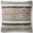 "Magnolia Home by Joanna Gaines for Loloi Accent Pillows 22"" X 22"" Pillow w/Down Fill - Item Number: DSETP1044GYMLPIL3"