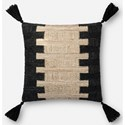"Magnolia Home by Joanna Gaines for Loloi Accent Pillows 18"" x 18"" Down Pillow - Item Number: DSETP1084BLIVPIL1"