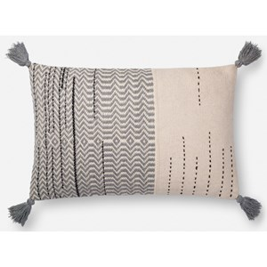 """Magnolia Home by Joanna Gaines for Loloi Accent Pillows 16"""" x 26"""" Down Pillow"""
