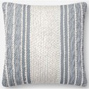 """Magnolia Home by Joanna Gaines for Loloi Accent Pillows 18"""" x 18"""" Down Pillow - Item Number: DSETP1090BBIVPIL1"""