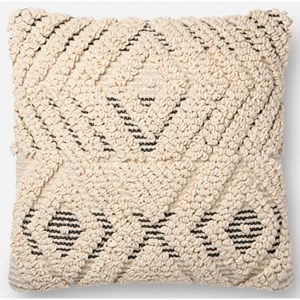 """Magnolia Home by Joanna Gaines for Loloi Accent Pillows 18"""" x 18"""" Down Pillow"""