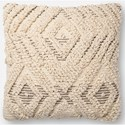 "Magnolia Home by Joanna Gaines for Loloi Accent Pillows 18"" x 18"" Down Pillow - Item Number: DSETP1097NAGYPIL1"