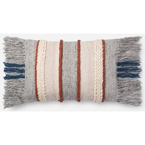 """Magnolia Home by Joanna Gaines for Loloi Accent Pillows 13"""" x 21"""" Down Pillow"""