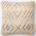 """Magnolia Home by Joanna Gaines for Loloi Accent Pillows 18"""" x 18"""" Cover Only - Item Number: P158P1097NABBPIL1"""