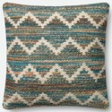 "Magnolia Home by Joanna Gaines for Loloi Accent Pillows 22"" X 22"" Cover w/Poly Pillow - Item Number: PSETP0421ML00PIL3"