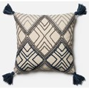 "Magnolia Home by Joanna Gaines for Loloi Accent Pillows 22"" X 22"" Cover w/Poly Pillow - Item Number: PSETP0425BBIVPIL3"