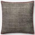 """Magnolia Home by Joanna Gaines for Loloi Accent Pillows 22"""" X 22"""" Cover w/Poly Pillow - Item Number: PSETP0435GYREPIL3"""