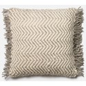 "Magnolia Home by Joanna Gaines for Loloi Accent Pillows 22"" X 22"" Cover w/Poly Pillow - Item Number: PSETP0457GYIVPIL3"