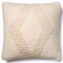 "Magnolia Home by Joanna Gaines for Loloi Accent Pillows 22"" X 22"" Cover w/Poly Pillow - Item Number: PSETP1007IV00PIL3"
