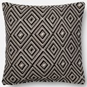 "Magnolia Home by Joanna Gaines for Loloi Accent Pillows 18"" X 18"" Cover w/Poly Pillow - Item Number: PSETP1010BLWHPIL1"