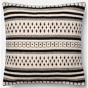 "Magnolia Home by Joanna Gaines for Loloi Accent Pillows 18"" X 18"" Cover w/Poly Pillow - Item Number: PSETP1011BLWHPIL1"