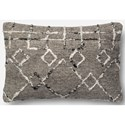 """Magnolia Home by Joanna Gaines for Loloi Accent Pillows 13"""" X 21"""" Cover w/Poly Pillow - Item Number: PSETP1015SIMLPIL5"""