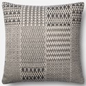 "Magnolia Home by Joanna Gaines for Loloi Accent Pillows 22"" X 22"" Cover w/Poly Pillow - Item Number: PSETP1016BLWHPIL3"