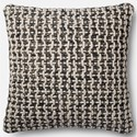 "Magnolia Home by Joanna Gaines for Loloi Accent Pillows 22"" X 22"" Cover w/Poly Pillow - Item Number: PSETP1017BLWHPIL3"