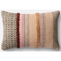 "Magnolia Home by Joanna Gaines for Loloi Accent Pillows 13"" X 21"" Cover w/Poly Pillow - Item Number: PSETP1019PIBEPIL5"