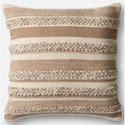 """Magnolia Home by Joanna Gaines for Loloi Accent Pillows 22"""" X 22"""" Cover w/Poly Pillow - Item Number: PSETP1022BEIVPIL3"""