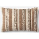 "Magnolia Home by Joanna Gaines for Loloi Accent Pillows 13"" X 21"" Cover w/Poly Pillow - Item Number: PSETP1022BEIVPIL5"