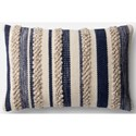 """Magnolia Home by Joanna Gaines for Loloi Accent Pillows 13"""" X 21"""" Cover w/Poly Pillow - Item Number: PSETP1022NVIVPIL5"""