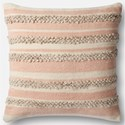 "Magnolia Home by Joanna Gaines for Loloi Accent Pillows 22"" X 22"" Cover w/Poly Pillow - Item Number: PSETP1022PIIVPIL3"