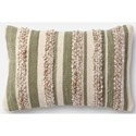 "Magnolia Home by Joanna Gaines for Loloi Accent Pillows 13"" X 21"" Cover w/Poly Pillow - Item Number: PSETP1022SGIVPIL5"