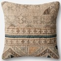 "Magnolia Home by Joanna Gaines for Loloi Accent Pillows 22"" X 22"" Cover w/Poly Pillow - Item Number: PSETP1030BEBBPIL3"
