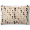 """Magnolia Home by Joanna Gaines for Loloi Accent Pillows 13"""" x 21"""" Polyester Pillow - Item Number: PSETP1082GYMLPIL5"""