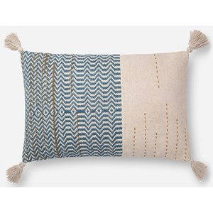 """Magnolia Home by Joanna Gaines for Loloi Accent Pillows 16"""" x 26"""" Polyester Pillow"""