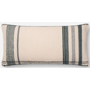 """Magnolia Home by Joanna Gaines for Loloi Accent Pillows 12"""" x 27"""" Polyester Pillow"""