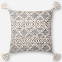 "Magnolia Home by Joanna Gaines for Loloi Accent Pillows 22"" x 22"" Polyester Pillow - Item Number: PSETP1093IVBBPIL3"