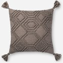 "Magnolia Home by Joanna Gaines for Loloi Accent Pillows 22"" x 22"" Polyester Pillow - Item Number: PSETP1094GY00PIL3"