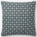 "Magnolia Home by Joanna Gaines for Loloi Accent Pillows 18"" x 18"" Polyester Pillow - Item Number: PSETP1096BB00PIL1"