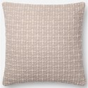 "Magnolia Home by Joanna Gaines for Loloi Accent Pillows 18"" x 18"" Polyester Pillow - Item Number: PSETP1096GY00PIL1"