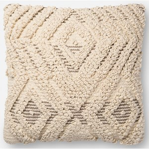 """Magnolia Home by Joanna Gaines for Loloi Accent Pillows 18"""" x 18"""" Polyester Pillow"""
