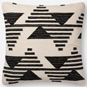 "Magnolia Home by Joanna Gaines for Loloi Accent Pillows 22"" x 22"" Polyester Pillow - Item Number: PSETP1099BLWHPIL3"