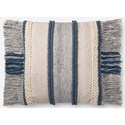 "Magnolia Home by Joanna Gaines for Loloi Accent Pillows 22"" x 22"" Polyester Pillow - Item Number: PSETP1100BBMLPIL3"