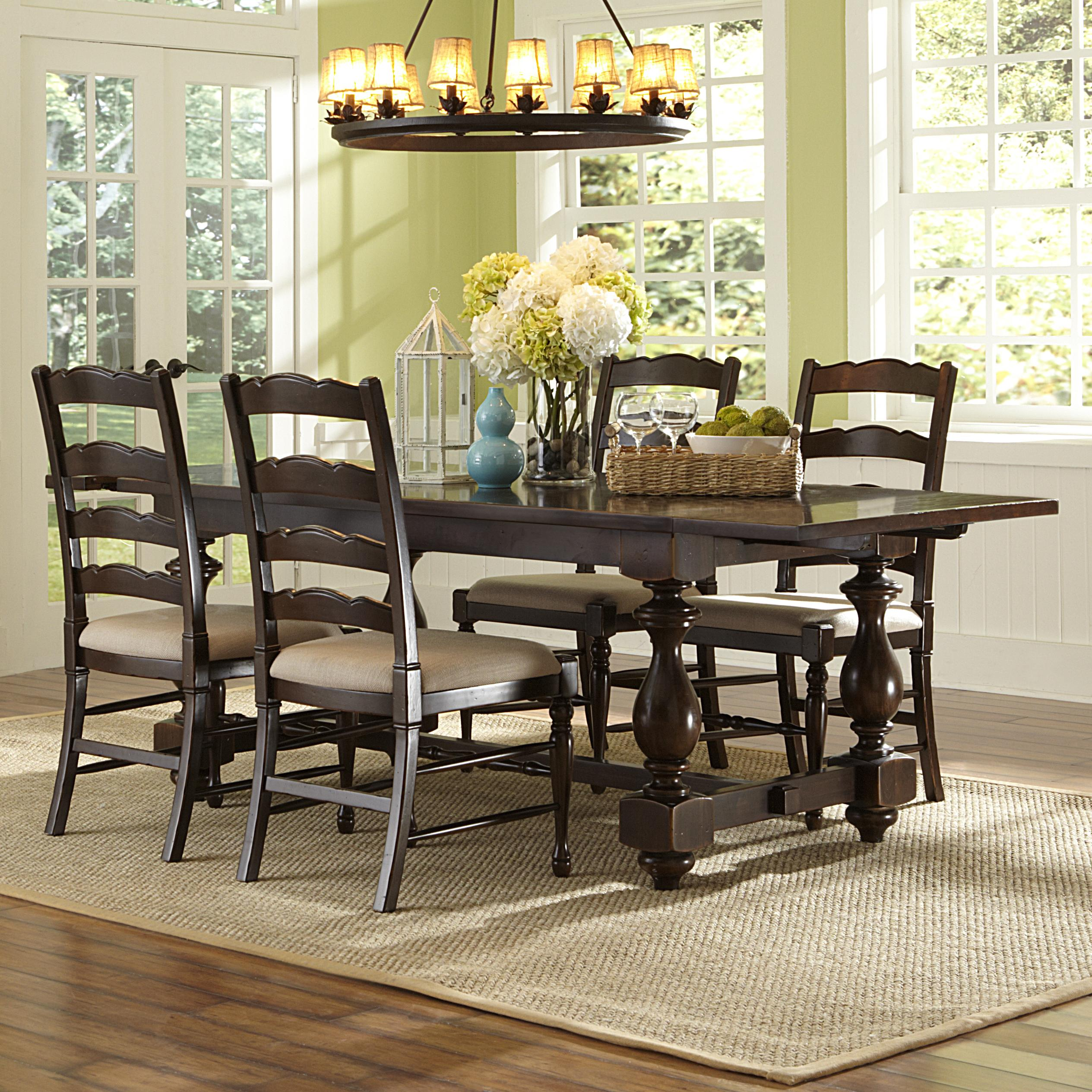 Magnussen Home  Loren 5 Piece Rectangular Table and Chair Set - Item Number: D2470-20+4x62