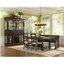 Magnussen Home  Loren 4 Piece Table, Bench and Chair Set - D2470-20+79+2x62