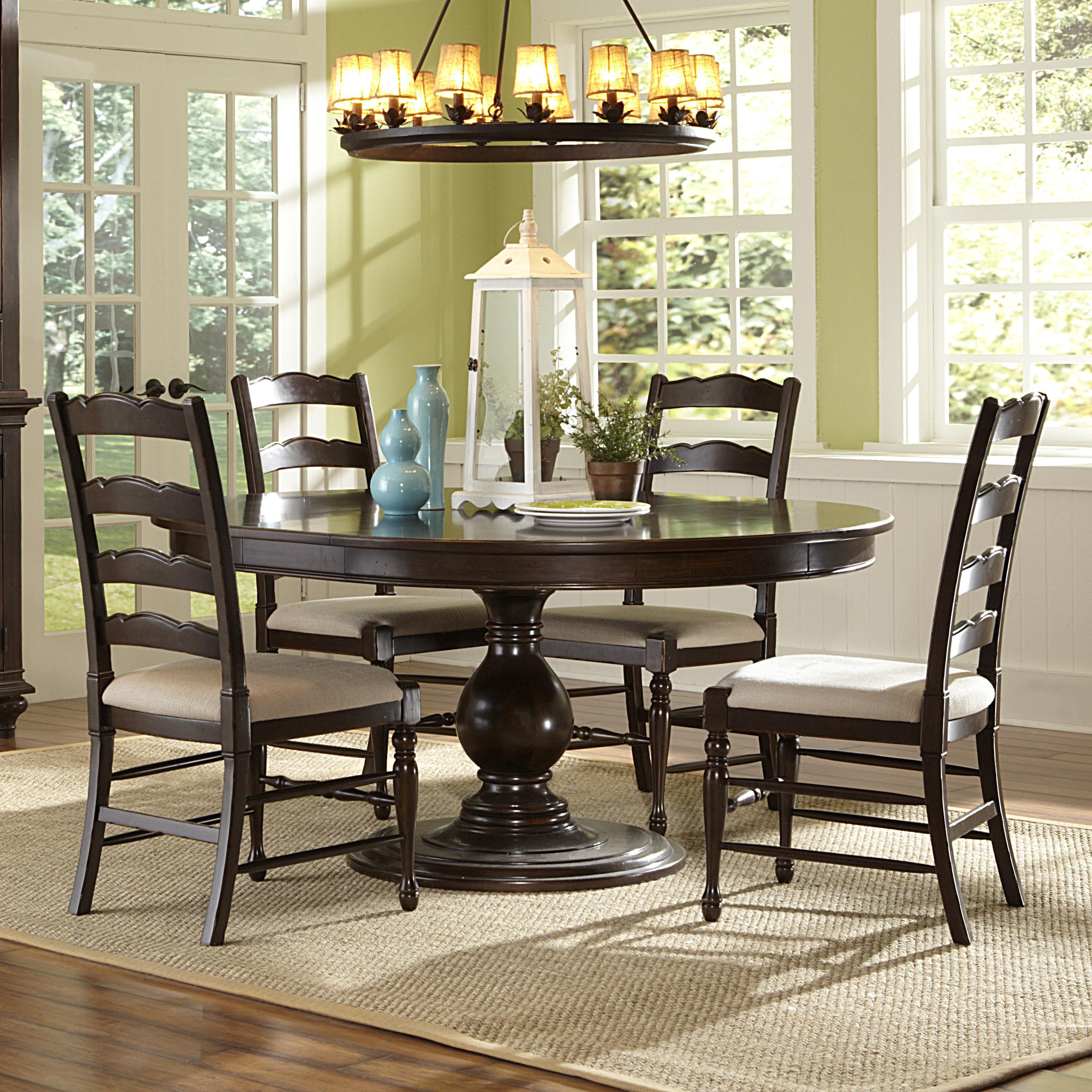 Magnussen Home  Loren 5 Piece Round Table and Chairs Set - Item Number: D2470-22+4x62